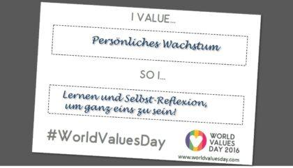 World Values Day - was ist mir wichtig und was tue ich dafür? Andrea Maria Bokler